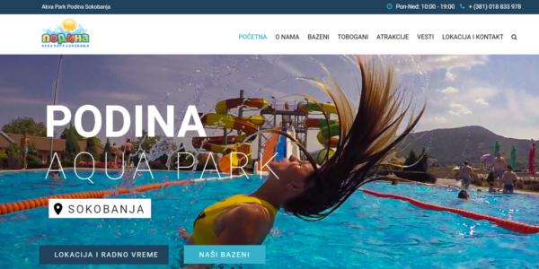 Novi sajt akva parka Podina